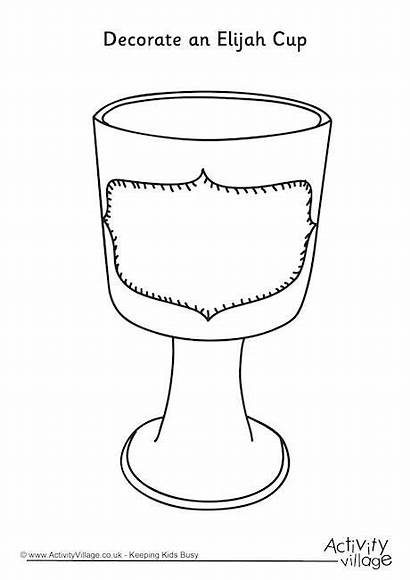 Cup Elijah Passover Decorate Coloring Colouring Seder