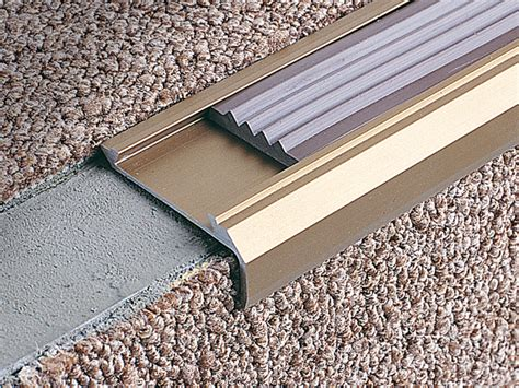 stairnosing profiles for carpet and pvc coverings stairtec