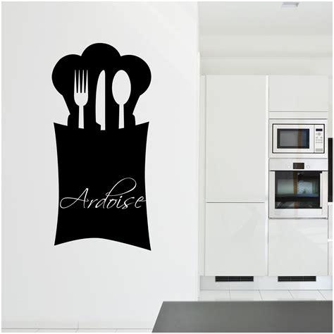 stickers ardoise cuisine couverts pas cher