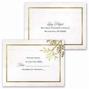 country glam invitation with free response postcard ann With country glam wedding invitations