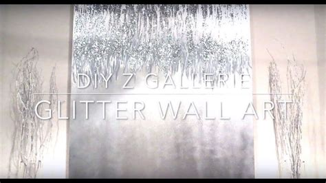 diy  gallerie glitter wall art youtube glitter wall