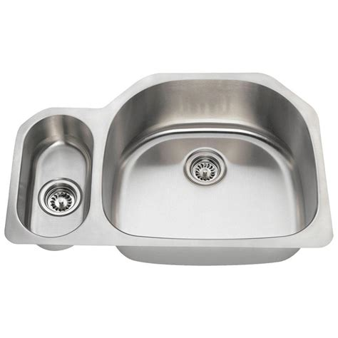 home depot kitchen sinks stainless steel mr direct undermount stainless steel 32 in bowl 8404