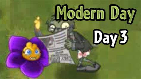 plants vs zombies modern plants vs zombies 2 modern day day 3 shrinking violet and newspaper