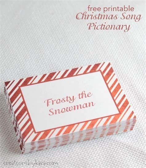 Christmas Songs Pictionary Free Christmas Game