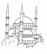 Mosque Drawing Simple Sketch Template Larger Credit sketch template