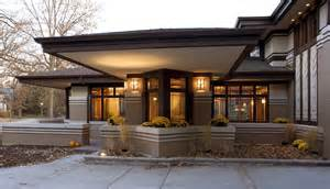 Prairie Style Cantilever Front New Home