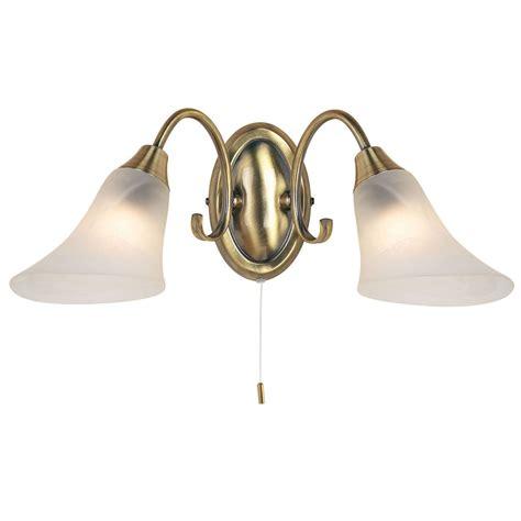 endon hardwick 2lt wall light 40w antique brass effect