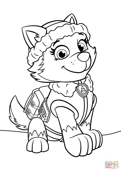 free printable paw patrol coloring pages paw patrol everest coloring page free printable coloring