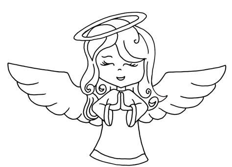 angel drawing cartoon  getdrawingscom