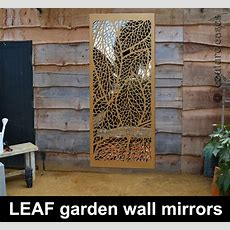 Decorative Garden Wall Panels With Mirrors  Custom Designs
