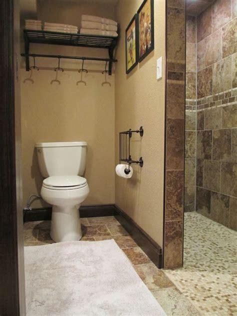 walk in shower in the basement bathroom great for