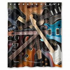 Memory Home New Cool Kinds Of Guitar Shower Curtain 100