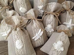 Sachet Parfumé Pour Armoire : pochette tissu lin lavande cadeau invit s pinteres ~ Teatrodelosmanantiales.com Idées de Décoration