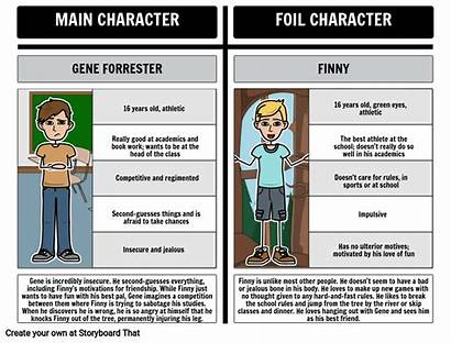 Foil Examples Separate Peace Gene Finny Literary