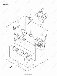 Suzuki Atv 2007 Oem Parts Diagram For Rear Caliper  Model