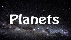 Planets Song - Learn the Planets - Poor Old Pluto! - YouTube