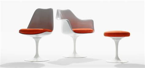 tulip armless chair knoll