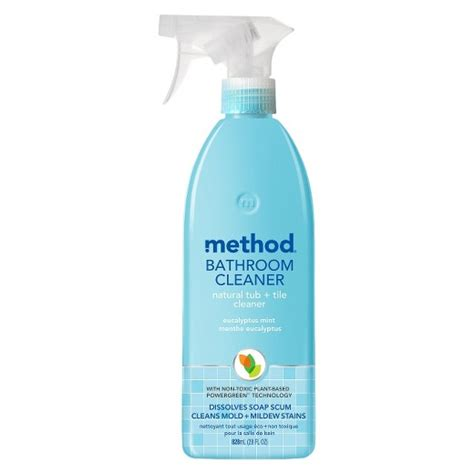 method cleaning products bathroom cleaner tub tile