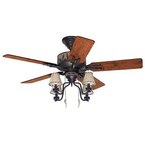 shop hunter 52 in adirondack bronze ceiling fan at lowes com