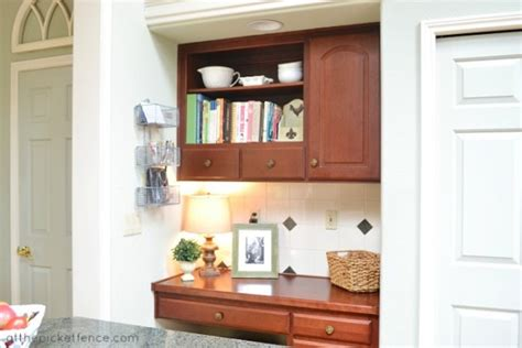 kitchen desk organization how to hide the phone guest post ask 1539