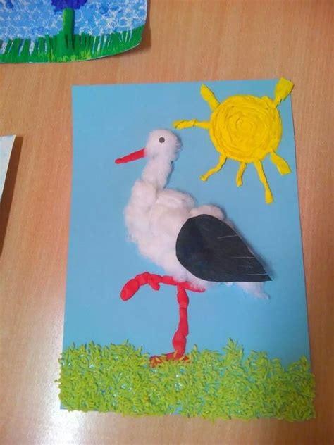 stork craft idea  kids crafts  worksheets