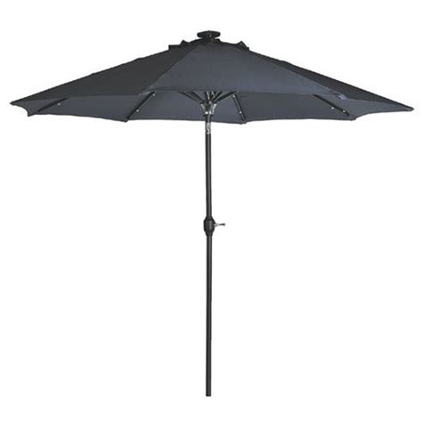 solar powered patio umbrella 24 led lights