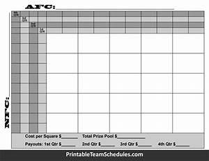 25 super bowl squares quarter line With printable superbowl squares template