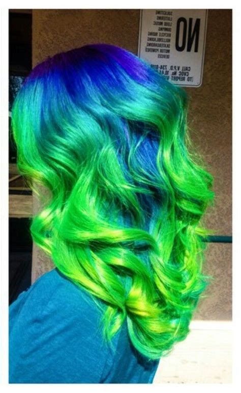 Blue Green Ombre Dyed Hair Makeupbyfrances Hair Dyed