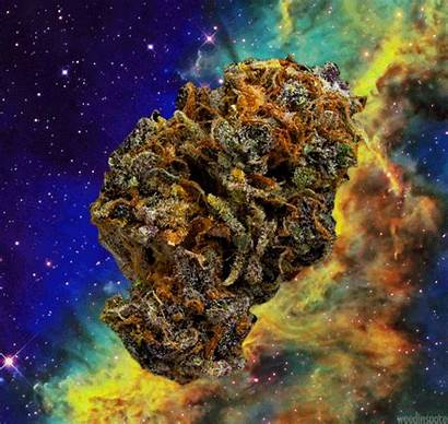 Weed Trippy Space Bud Animated Smoking 420