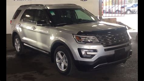 2017 Silver Ford Explorer 4x4 Xlt Review