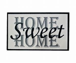 Paillasson D Entrée : tapis d 39 entr e paillasson int rieur retro vintage usa home sweet home 45x75cm 2422 ~ Teatrodelosmanantiales.com Idées de Décoration