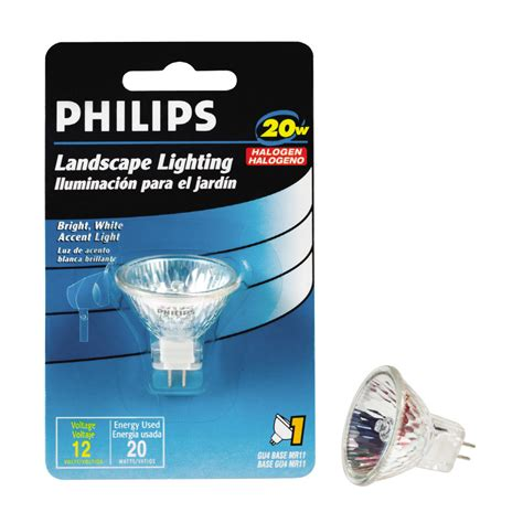 shop philips 20 watt bright white mr11 halogen light