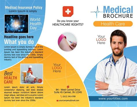 Healthcare Brochure Templates Free by Tri Fold Brochure Template Free Psd