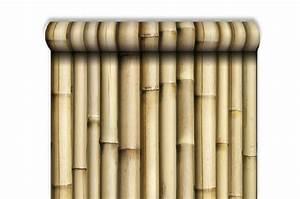 Papier Trompe L Oeil : papier peint trompe l 39 oeil bambou papiers peints zen pas ~ Premium-room.com Idées de Décoration