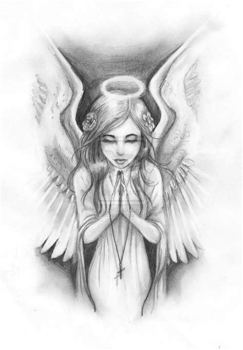 Guardian Angel Drawings In Pencil Easy Female Guardian Angel Drawing - Google Search (With