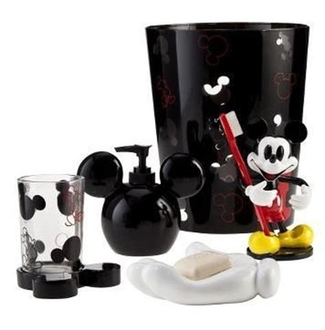mickey and minnie bathroom accessories mickey mouse bathroom accessory set everything mickey