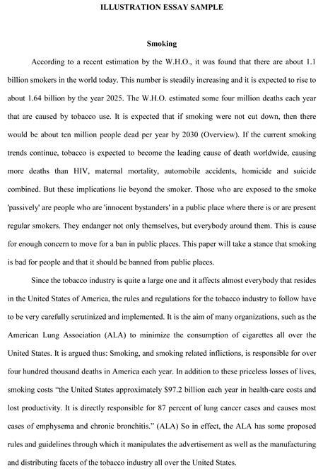 Illustration Essay Writing Help