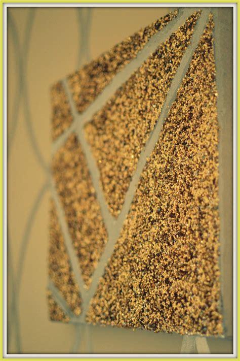 DIY Glitter Wall Art
