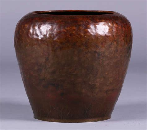 dirk van erp hammered copper warty vase
