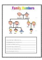 family relationships esl worksheet  dannunsa