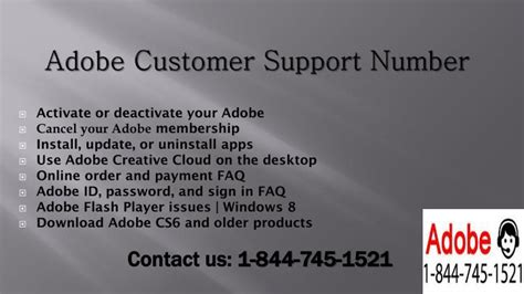 adobe support phone number ppt adobe phone number 1 844 745 1521 powerpoint