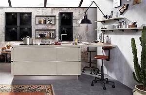Häcker Küchen Arbeitsplatten : h cker pr sentiert k che mit echtbeton oberfl che b hm interieur ~ Markanthonyermac.com Haus und Dekorationen