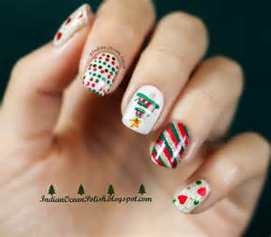 Indian ocean polish christmas nail art ideas simple