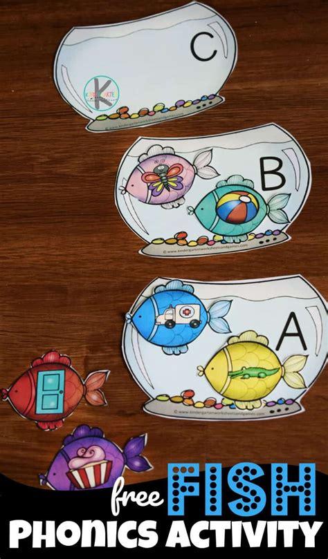 fish phonics activity  images kindergarten phonics