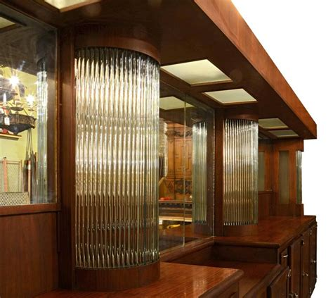 deco mahogany bar with glass rods circa 1935 for sale at 1stdibs