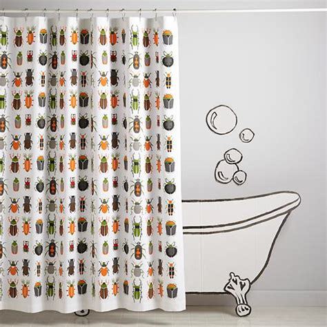 Land Of Nod Shower Curtain - best bugs shower curtain the land of nod