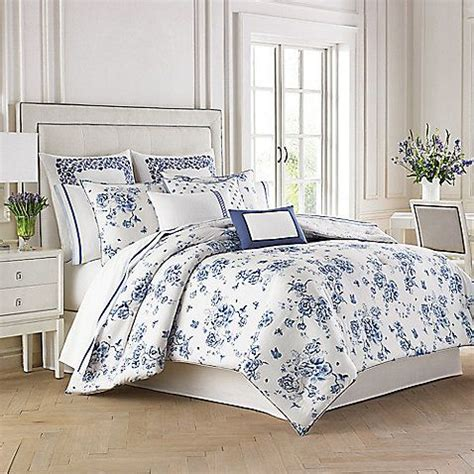 Palette Classic Blue White by The Wedgwood China Blue Floral Comforter Set Embodies