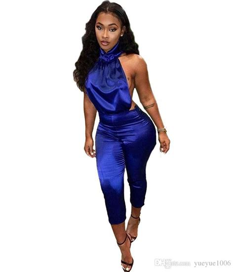 blue jumpsuit womens 2018 suit dress royal blue jumpsuit black clothes