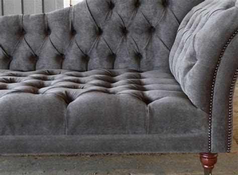 chaise chesterfield naples velvet chesterfield chaise lounge abode sofas