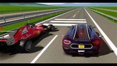 koenigsegg one 1 top speed ferrari f1 2017 vs koenigsegg one 1 top speed battles